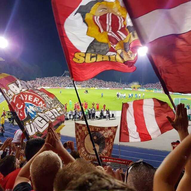 Vom Spiel FC Carl Zeiss Jena gegen FC Bayern München am 19. August 2016